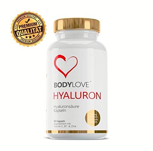Statt 39,99 nur 19,99 Hyaluronsäure Kapseln Hochdosiert mit 700mg 90 Vegane Kapseln Angereichert mit Vitamin C Biotin Zink - Für Haut Haare, Anti-Aging, und Gelenke Bodylove®