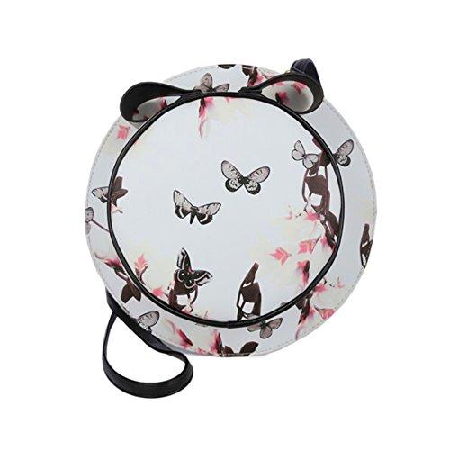 Tong Yue, Borsa a zainetto donna, dark grey (grigio scuro) - TYUK0482-5 white butterfly
