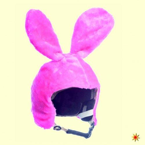 Casque de ski Cover Housse Lapin Rose, Bunny, capot