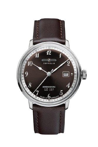 Zeppelin Watches - 7046-5 - Montre Homme - Quartz Analogique - Bracelet Cuir Noir