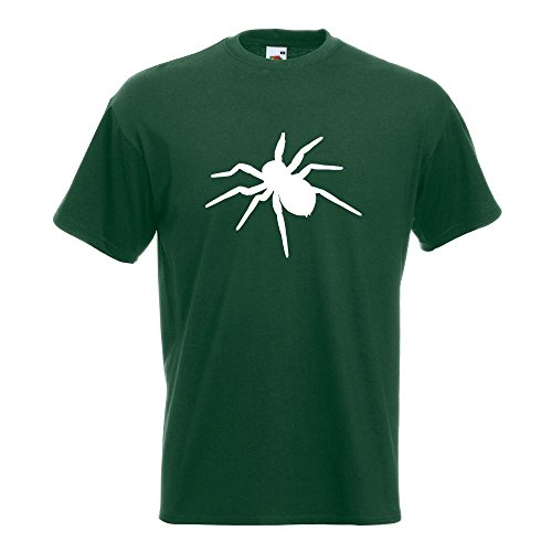 KIWISTAR - Spinne Spider Silhouette 3 T-Shirt in 15 verschiedenen Farben - Herren Funshirt bedruckt Design Sprüche Spruch Motive Oberteil Baumwolle Print Größe S M L XL XXL (Grünen Spider T-shirt)