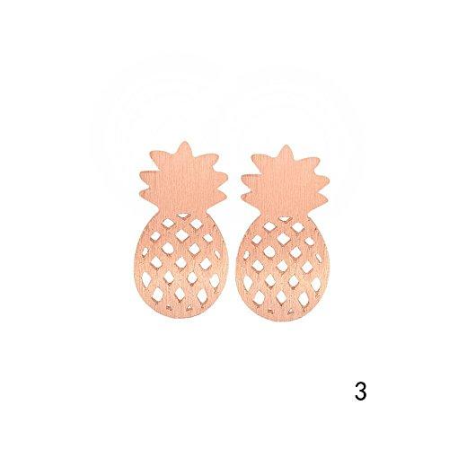 Fashion ER Mode Ananas Stud minimalistischen Post Ohrringe Ohrstecker für Mädchen Frauen Kinder Geschenk Roségold