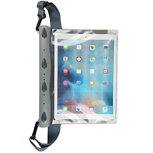 AQUAPAC Tasche iPad Pro Case wasserdicht grau transparent, 35 x 28 x 2.8 cm, 19.6 Liter - Wasserdicht Schwimmt