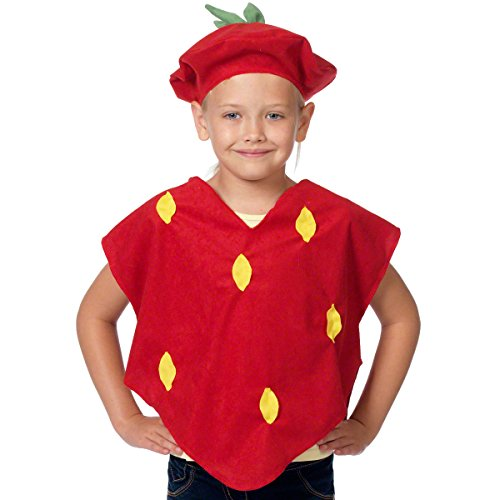 (Unbekannt Erdbeere Kostüm für Kinder - Einheitsgröße 3-9 Jahre.)