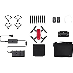 Dji Cp.pt.000906 Spark Drone Fly More Combo - Lava Red (Uk)