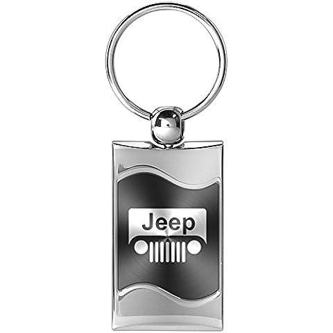 Jeep griglia Logo grigio di precisione in metallo spazzolato