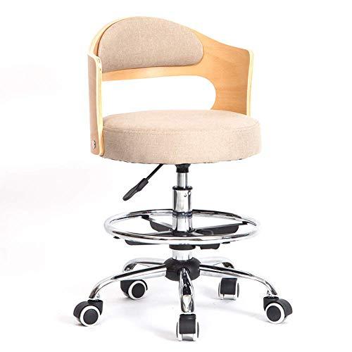 Massivholz Rückenlehne Computer Stuhl Studentenstudie Schreibtisch Stuhl Hause Aufzug Rotierenden Kinder Studie Drehstuhl Einstellbar Computer Schreibtisch Arbeitsstuhl,Beige