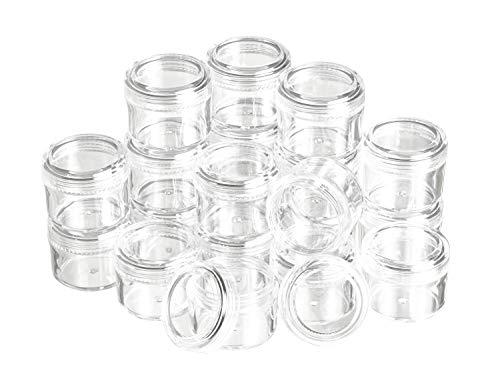 20 Kunststoffdosen mit Schraubdeckel, 15 ml, VBS Großhandelspackung