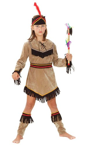 Kinder Kostüm Indian Girl Pocahontas Wild West Outfit 11-13 Jahre