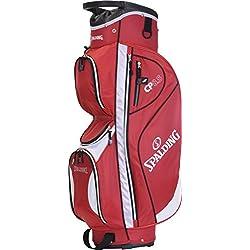 Spalding CB - Bolsa de carro para palos de golf, color rojo, talla 9.5-pulgadas