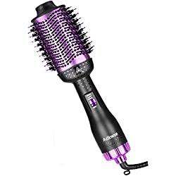 Adkwse Salon Sèche Cheveux Volumisant,5 en 1 Brosse Soufflante,Brosse Lissante Chauffant,Multifonctionnels Brosse Air Chaud pour Tous les types Cheveux