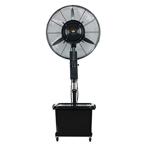 Ventilatoren Industrieller Nebel-Spray-Ventilator im Freien addieren Wasser-Zerstäubungs-Kühlungsboden-Ventilator-Geschäft Großes vibrierendes ruhiges Ventilator-Mobile anhebbar mit Flaschenzug/Wass