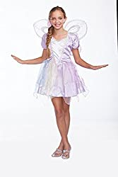 Halloween Wholesalers Girl's Rainbow Pixie-Small/Medium White