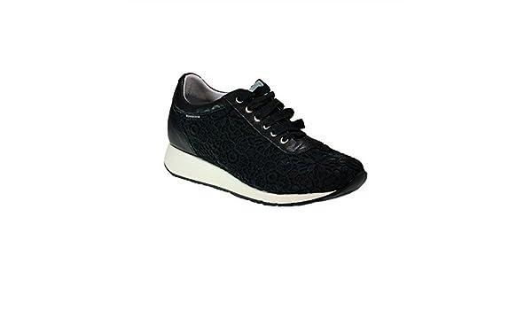 Chaussures Femme Frau Sneakers dentelle Venise 43K2noires, femme, BLACK /VENEZIA