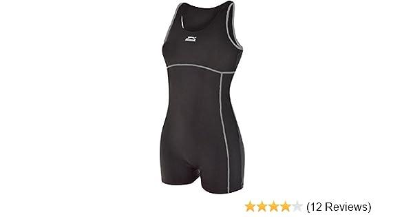 7ba8f0e62a3db Ladies Slazenger Boyleg Swimsuit Swimming Costume Womens long leg triathlon  (black