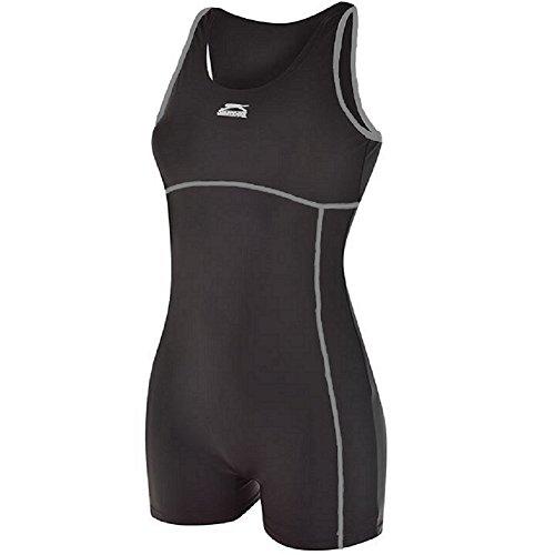 Slazenger Damen-Badeanzug/Schwimmanzug, langes Bein, Triathlon schwarz