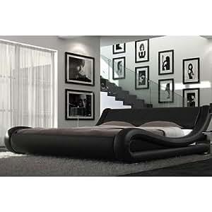Milano Italian Bed Frame Colour: Black, Size: Super King