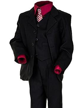 6tlg. Kinder Fest Anzug Kommunionsanzug Smoking Jungen Kinderanzug extra Hemd
