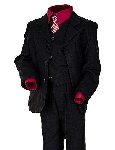 zug Kommunionsanzug Smoking Jungen Kinderanzug extra Hemd #18hrt Hemd Rot Gr. 6 / 110 / 116 (Jungen Smoking)