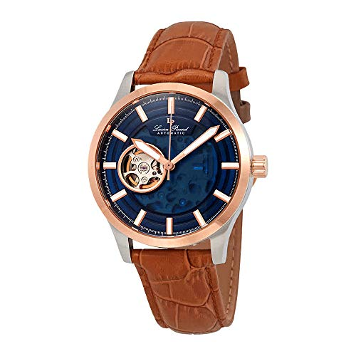 Lucien Piccard Sevilla II Automatic Blue Dial Mens Watch LP-28016A-03-RB-BRW
