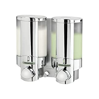 Aviva Chrome Finish Double Soap - Shampoo - Gel Dispenser