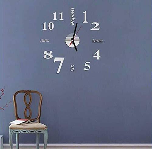 Sioneit Mode stumm runde Form Quarz Wanduhr Aufkleber Startseite dekorative Uhr Wanduhren