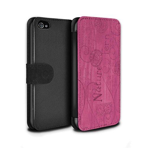 Stuff4 Coque/Etui/Housse Cuir PU Case/Cover pour Apple iPhone 4/4S / Pack (10 pcs) Design / Motif Nature Collection Rose