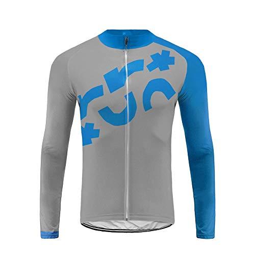 Uglyfrog September Designs Fahrradtrikot Langarm Herren Thermo Radtrikot Pro/Windstopper / Warm/Mantel/ Reflektoren/Full Zip
