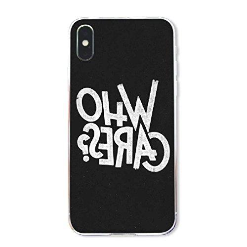 finoo | Iphone X Hard Case Handy-Hülle mit Motiv | dünne stoßfeste Schutz-Cover Tasche in Premium Qualität | Premium Case für Dein Smartphone| Fuck You Herz Who Cares