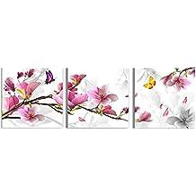 Bluelover 3pcs flor combinación pintura pintura al óleo impresa en lienzo Inicio cuadro de arte decorativo