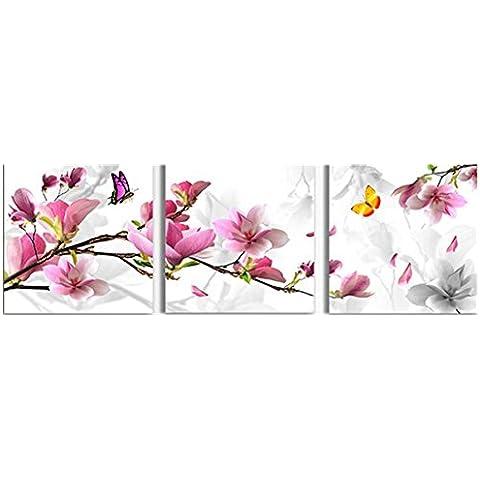 Bluelover 3pcs flor combinación pintura pintura al óleo impresa en lienzo Inicio cuadro de arte