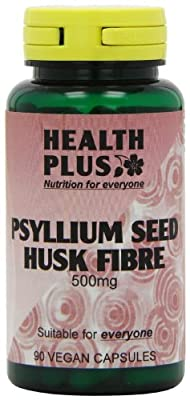 Health Plus Psyllium Seed Husk Fibre 500mg Digestive Health Supplement - 90 Capsules by Health + Plus Ltd