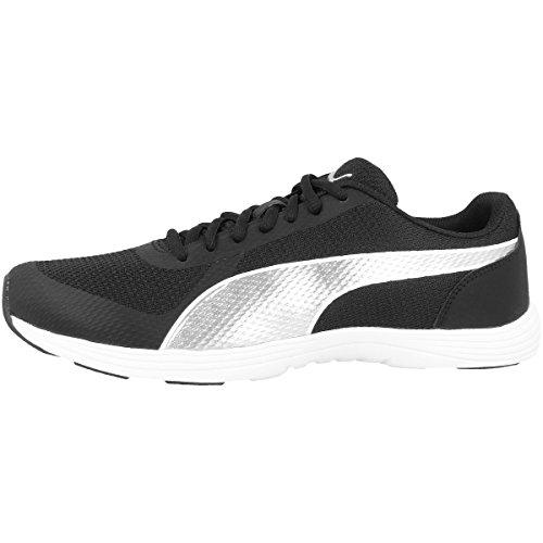 Puma Black Silver Modern S Damen Sport Schuh Mesh Sneaker Nero (nero)