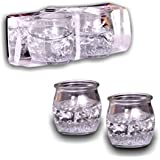 Sshakuntlay® Set Of 2 Pcs Gel Silver Candle For Home Decoration And Diwali Gifting/Festival Decoration