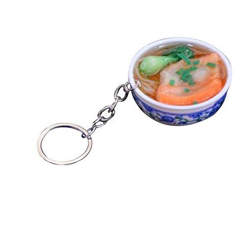 Haodou Chinesische Art Essen Schlüsselanhänger Keychain Handbag Decor Key Ring Schlüsselkette/Tür/Telefon/Tasche/Auto-Anhänger (Stil D)