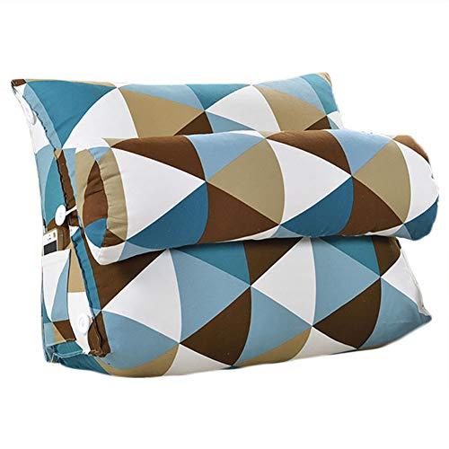 Cojín triangular para sofá o cama o como respaldo para despacho, tamaño...