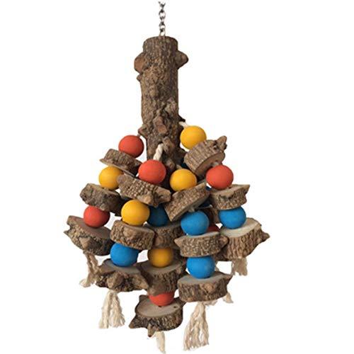 036 Schleife (JohnJohnsen Parrot Biss Spielzeug Pure Natural Blumen-Baum Spielzeug Schleifen Zahn Parrot Toy Supplies Pure Natural Blumen Pfeffer Holzspielzeug (bunt))