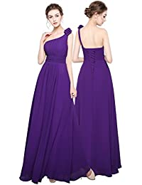 Angel Star Long Chiffon Lace Evening Formal Party Ball Gown Prom Bridesmaid Dress
