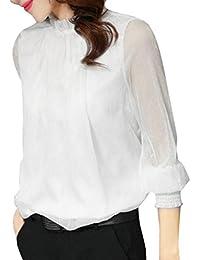 LILICAT Bekleidung LILICAT Frauen Casual Bluse Vintage Langarm Chiffon T- Shirt Sommer Herbst Blumen gedruckt Chiffon Oberteile… 3e66cdca49
