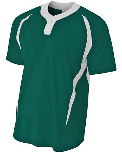 A4Herren nb4229nb4229-frw 2Tasten Color Block Henley Sportswear, Herren, NB4229, Forest/White, S (- 2-taste Henley)