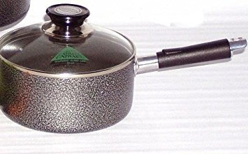 Non-Stick Aluminum Cooking Sauce Pot w/Glass Lid - 18 Cm 2.5 QT 2.5 Quart Sauce