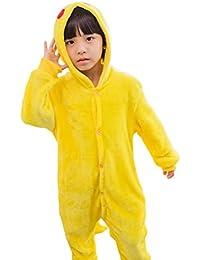 MissFox Kigurumi Pijamas Unisexo Niños Traje Disfraz Niños Animal Pyjamas Pikachu