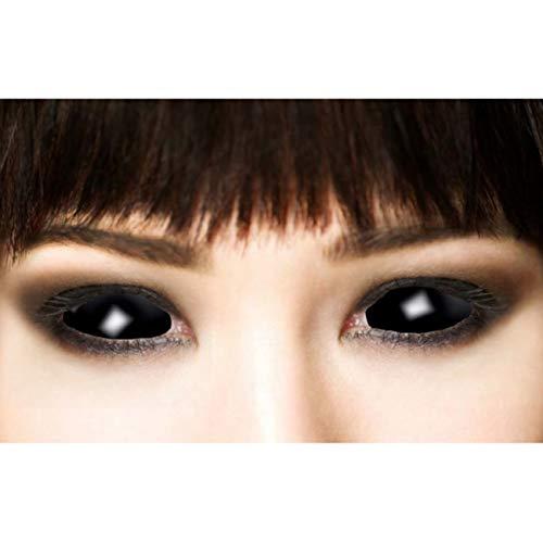 Funlinsen Black Sclera-Markenqualität- 1 PAAR-D-22mm-schwarze Linsen,Cosplay, Larp, Zombie Kontaktlinsen, Crazy Funlinsen, Halloween, Fastnacht,Vampir - 5