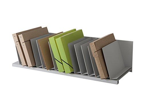 Paperflow 4940.02 Briefkörbe, Ablagen, Stapelbar, Belegfächer, Zubehöre Sortierablage 15 Fächer grau