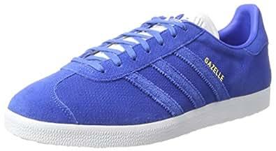 adidas Men's Gazelle Trainers, Blue (Blue/Blue/Gold Metallic), 4 UK