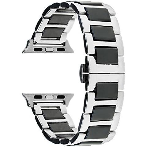TRUMiRR ceramica Watch Band Strap Tutti i link rimovibile per iWatch Apple Osservare / Sport (Nel Corso Di Ceramica)