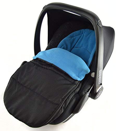 For-your-Little-One - Saco de paseo, Compatible con asiento de coche recién nacido ABC Design, color azul