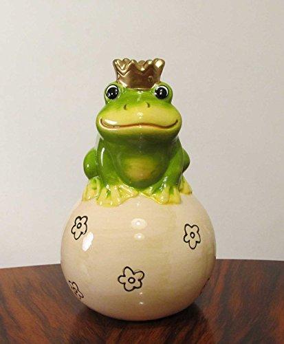 Sparschwein Frosch aus Keramik Froschkönig 15 cm (Spardose Frosch)