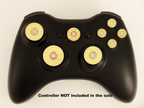 xbox-360-controller-full-set-of-replacement-brass-bullet-buttons-d-pad-guide-joysticks-thumb-sticks-