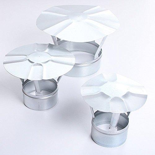 Regenhaube Regenhut Schornsteinabdeckung Einsteck für Ofenrohre Kamin verzinkt 7 Größen (Ø 120)